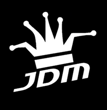Funny JDM King Reflective Vinyl Sticker For Car Truck Window Bumper Drift(China)