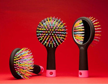 Free shipping New Color Comb Magic hair brush Hair salon comb Rainbow hairbrush fashion comb Anti-tangle brush massage