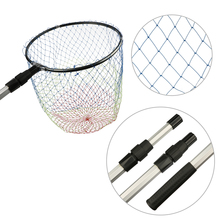 Folding Aluminum Fishing Net with Telescoping Landing Handle Carp Bass Saltwater Fishing Tackle(China)