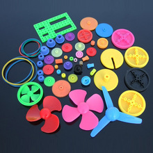 55pcs Colorful Mixed Plastic Gear Gearbox DIY Child Kid Toy Ship Car Boat Plane Robot Air Craft RC Model DIY Repair Toolkit(China)