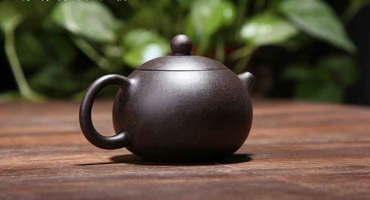 170ML yixing tea pot purple clay xi shi zisha teapot ore beauty chinese kung fu kettle suit puer black tea with gift box 6