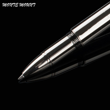 Luxury MONTE MOUNT series Silver lattice roller ball pen executive office supplies Hot sell writing ball pen gifts