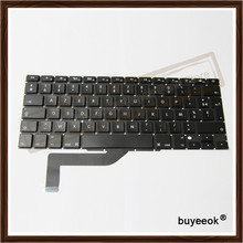 French Keyboards Black Replacement 100% Original New For Apple Macbook Pro 15'' Retina A1398 Keyboard French Standard 2012-2015