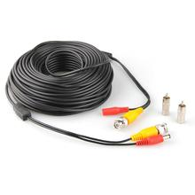 30M 100FT Video DC Power Security Surveillance BNC RCA Cable for CCTV Camera DVR