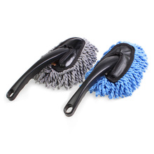 Car Cleaning Brush Microfiber Auto Window Wash Cleaner Long Handle Dust Car Care Towel Handy Washable Car Dirt Dust Clean Brush(China)