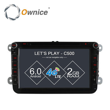 "8"" Ownice Android 6.0 Quad Core Car DVD GPS for Volkswagen golf 4 golf 5 6 touran passat B6 sharan jetta caddy 4G LTE Network"