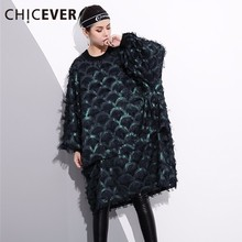 Buy CHICEVER 2018 Spring Pullovers Tassel Women Dress Female Long Sleeve Loose Big Size Hit Colors Dresses Clothes Fashion Casual for $23.79 in AliExpress store