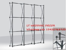 Aluminum flower Wall stand frame for Tradeshow Straight Tension Banner Exhibition Display Stand Trade Show Wall(China)
