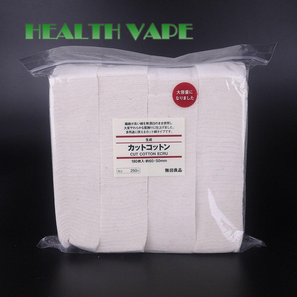 Original Japanese Organic Cotton 180Pcs/Pack No Bleach Healthy Huge Vapor Eletronic Cigarette Cotton For RDA RBA Atomizer<br><br>Aliexpress