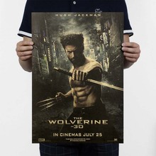 Wolverine Movie Poster / Nostalgia Old Retro Kraft Poster / Advertising Posters / Vintage Decorative Painting Wall Stickers