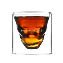 1pc Skull Shot Glass Skull Head Vodka Shot Wine Glass Novelty Cup(China)