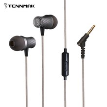 Tennmak Banjo Turbo Stereo Bass In Ear earphone handsfree earbud 3.5mm Earbuds, strong bass & clear sound earphone(China)