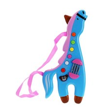 HOT SALE Musical Horse Lighting Sound Instrument Educational Infant Toy Guita Playing Corresponding Sound Kids Favorite(China)