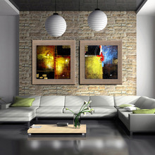 City Downtown New York Urban Street homeModern Picture Hand Painted Abstract linen Oil Painting Handmade Wall Art For LivingRoom