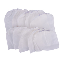 High Quality Nails Arts Salon Tool 10Pcs White Non-woven Replacement Bags For Nail Art Dust Suction Collector
