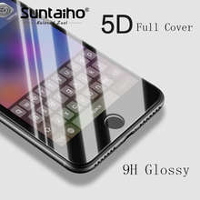 Buy Suntaiho 5D Tempered Glass 4D 3D Edge Full Curved Premium iPhone 8 Plus Anti-Explosion Screen Protector iPhone 8 for $3.57 in AliExpress store