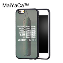MaiYaCa Keep going to Muay Thai training Printed Phone Cases For iPhone 6 Plus 6s Plus Luxury Phone Back Cover Black TPU shell(China)