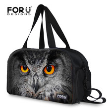 FORUDESIGNS New Cool 3D Owl Lion Tiger Print Man Travel Bags Fashion Men Women Large Capacity Duffle Bag Teenager Weekend Bag
