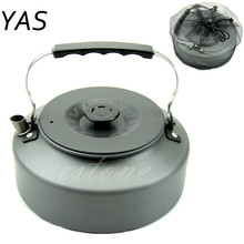 YAS Portable Outdoor Camping Survival 1.6L Coffee Pot Water Kettle Teapot Aluminum HXP001(China)