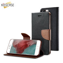 KISSCASE for Samsung Galaxy Note 2 II N7100 Case Flip Leather Wallet Stand Case For Samsung Note 8 Note 5 Note 4 3 Luxury Cover(China)