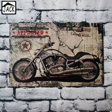 Motorcycle Stamp Vintage Poster Metal Tin Signs 20X30CM Iron Plate Wall Decor Plaque Club Home Bar Shop Gallery Garage decor