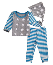 Buy Newborn Baby Boy Infant Girl Winter Clothes Set Star Print Tops Striped Pants Hat Baby Cotton Clothes Set 3PCS for $7.06 in AliExpress store