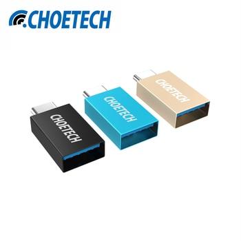 USB C à USB 3.0 Adaptateur, CHOE Type C Mâle à Type A Femelle Convertisseur [OTG] avec 56 K Résistance pour Macbook Google Pixel Chromebook