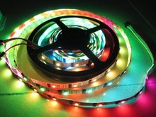 HOT product 50M ws2801 LED strip 32LED 32ic No waterproof Arduino development ambilight TV music light, RGB led strip ws2801 IC