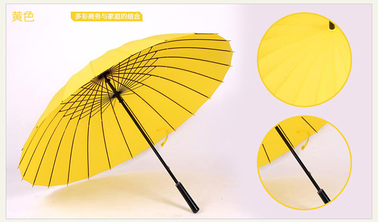 Hot sell Creative long handle outdoor 24 Rib bone straight umbrella large golf umbrellas two or three people compact umbrellas 32