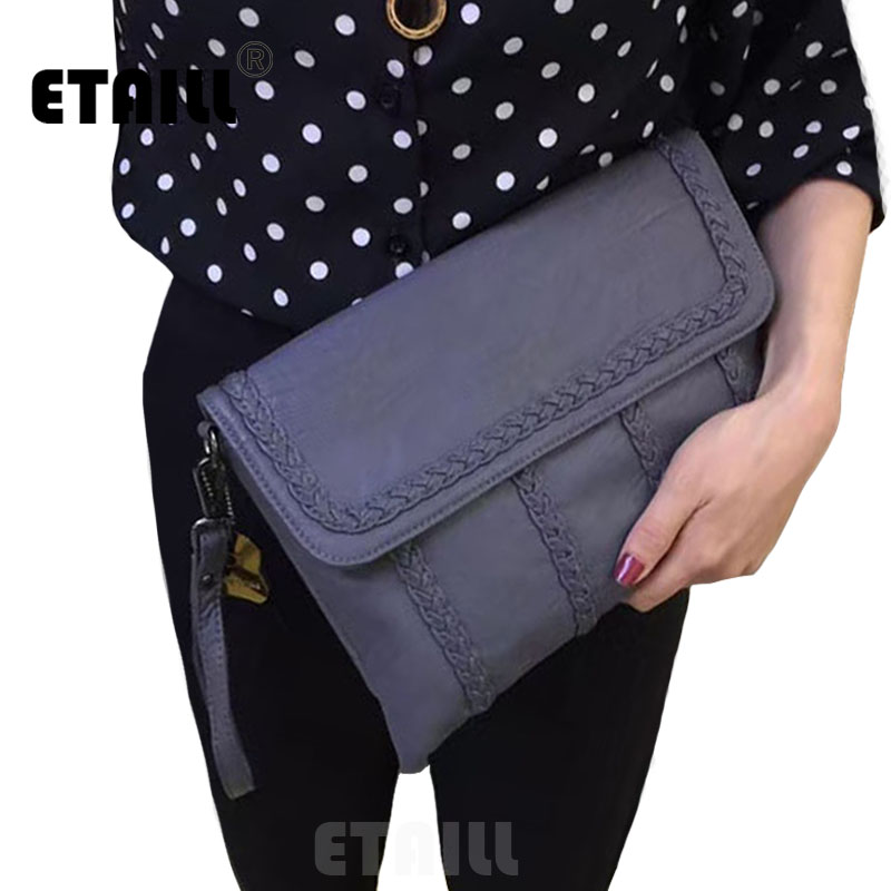 Knitting Casual Female Clutch Bags Versatile Famous Brand Real Split Leather Flap Bag Women Messenger Bagss with Free Shipping<br><br>Aliexpress