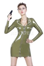 Bonny latex uniform dress(China)