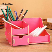 Ode-Rin Wooden boxes  makeup organizer storage box mac cosmetics Household bin storage cosmetic boxes power bank the bottle
