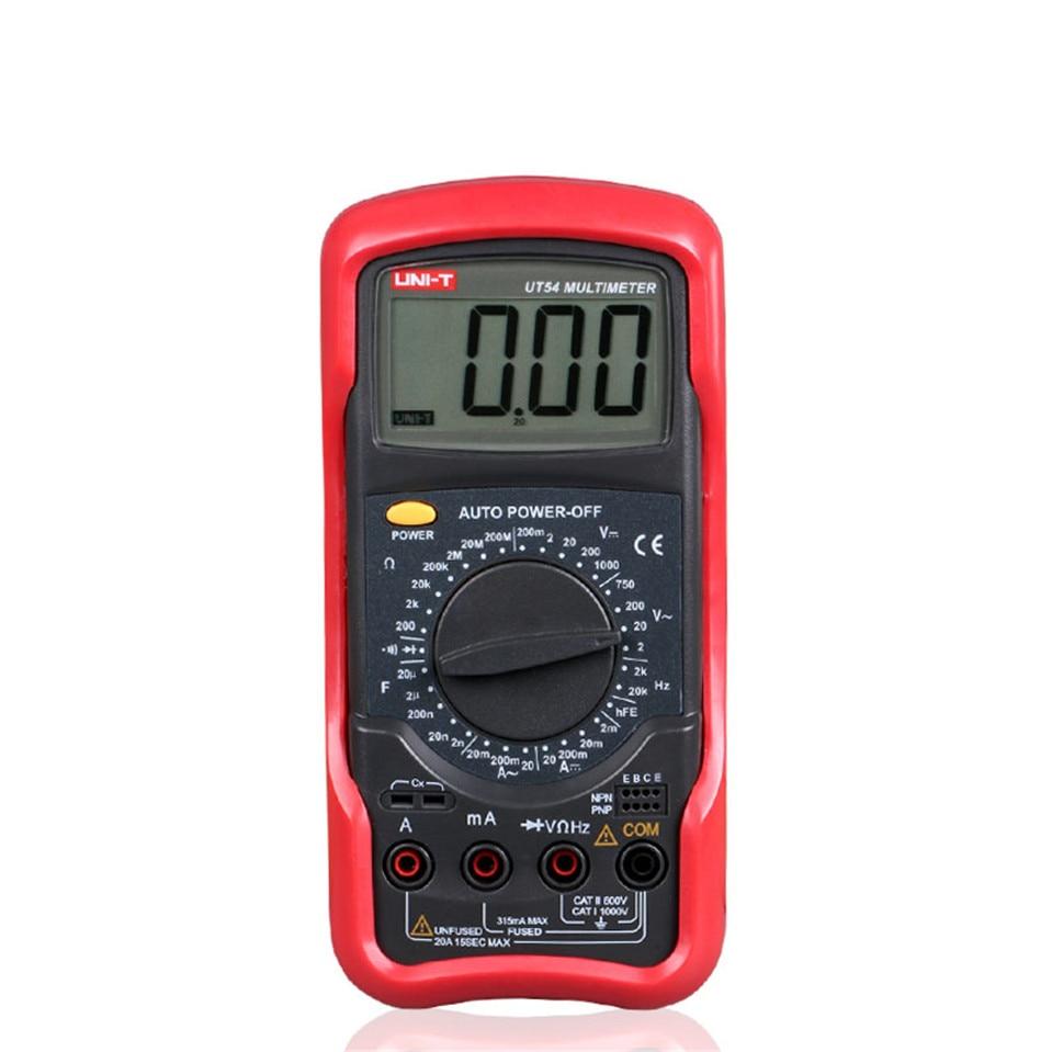 2016 High Quality UNI-T UT54 Standard DMM Digital Multimeters W/ Frequency Test Multimetro LCR Meter Ammeter Analog Multitester<br>