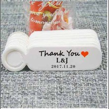 Custom logo cookies/candy/gift  brand tag kraft/white jewelry tag label cloth products display tag with logo print 100pcs