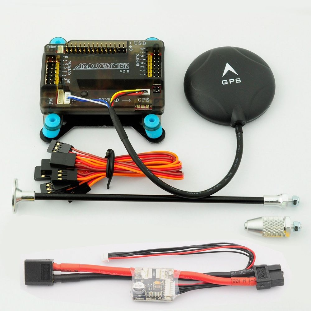 APM 2.8 Flight Controller NEO-M8N GPS 5V 3A Power Module GPS Support Multicopter<br><br>Aliexpress