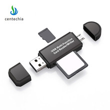 Centechia 4 в 1 smart card reader для Android OTG Card Reader USB 2.0 Micro USB (тип b) SD/MMC слот Micro SD/TF слот(China)