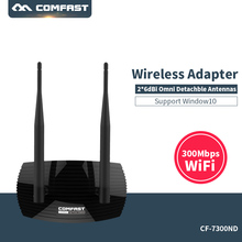 300Mbps High Power USB  Wireless Adapter COMFAST CF-WU7300ND Wifi adapter RALINK RT3072 chipset with 2pcs 6dBi Omni wifi Antenna