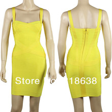 spaghetti straps sweatheart cross over yellow bandage dresses 2016 party dress lilac .orange.red.black.white
