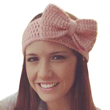 Cotton Crochet Bow Headband Winter Warm Headbands for Women Turban Head Band Hair Accessories