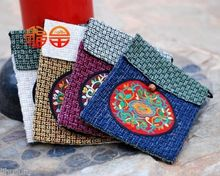 Wholesale 10PCS HANDMADE Ethnic retro FLAX EMBROIDER PHONE POUCHE Cell Phone Case