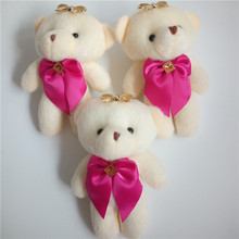 Lovely Small Teddy Bear Plush Pendant Toys Big Head Bears Stuffed Dolls Gift Wedding Party Decor 12cm 10pcs(China)