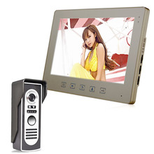 10 inch LCD Display Video Doorbell Intercom Door Phone Doorbells Waterproof Camera(China)