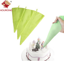 Hourong 1Pc  Silicone Piping Bags DIY Reusable Icing Fondant Cake Cream Nozzle Decorating Set Pastry Baking Tool