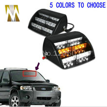 18 LED Emergency Vehicle Strobe Lights Windshields Dashboard Flash Warning Red/Bule/Amber/White LED POLICE LIGHTS Free Shipping