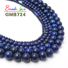 Natural Lapis Lazuli Stone Round Beads For Jeweley Making 4 6 8 10 12 14mm Pick Size Free Shipping Aa-F00078