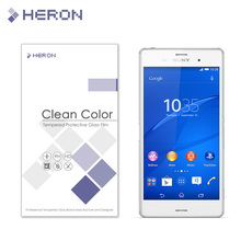 0.3mm Tempered Glass for Sony Z3 L55 9H Arc Edge 2.5D High Transparent Screen Front Back Protector with Retail Package