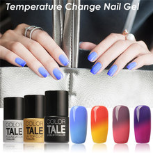 Buy FOCALLURE Color Tale Temperature Change Color Gel Polish DIY Nail Art Mood Color Changing UV Gel Polish for $1.72 in AliExpress store