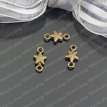 (24436)Alloy Findings,charm pendants,Antiqued style bronze tone Small five star 50PCS