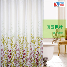 Feiqiong Brand 180*180cm 1Pcs Green Maple Leaf Waterproof Shower Curtains 100% Polyester Home Bathroom Curtains