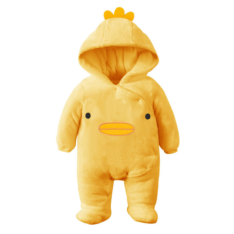New Arrival !Autumn and Winter Baby Boy&Girl Clothes Newborn Cartoon Animal Outwear Clothing Baby Warm Jumpsuit Free Drop Ship04